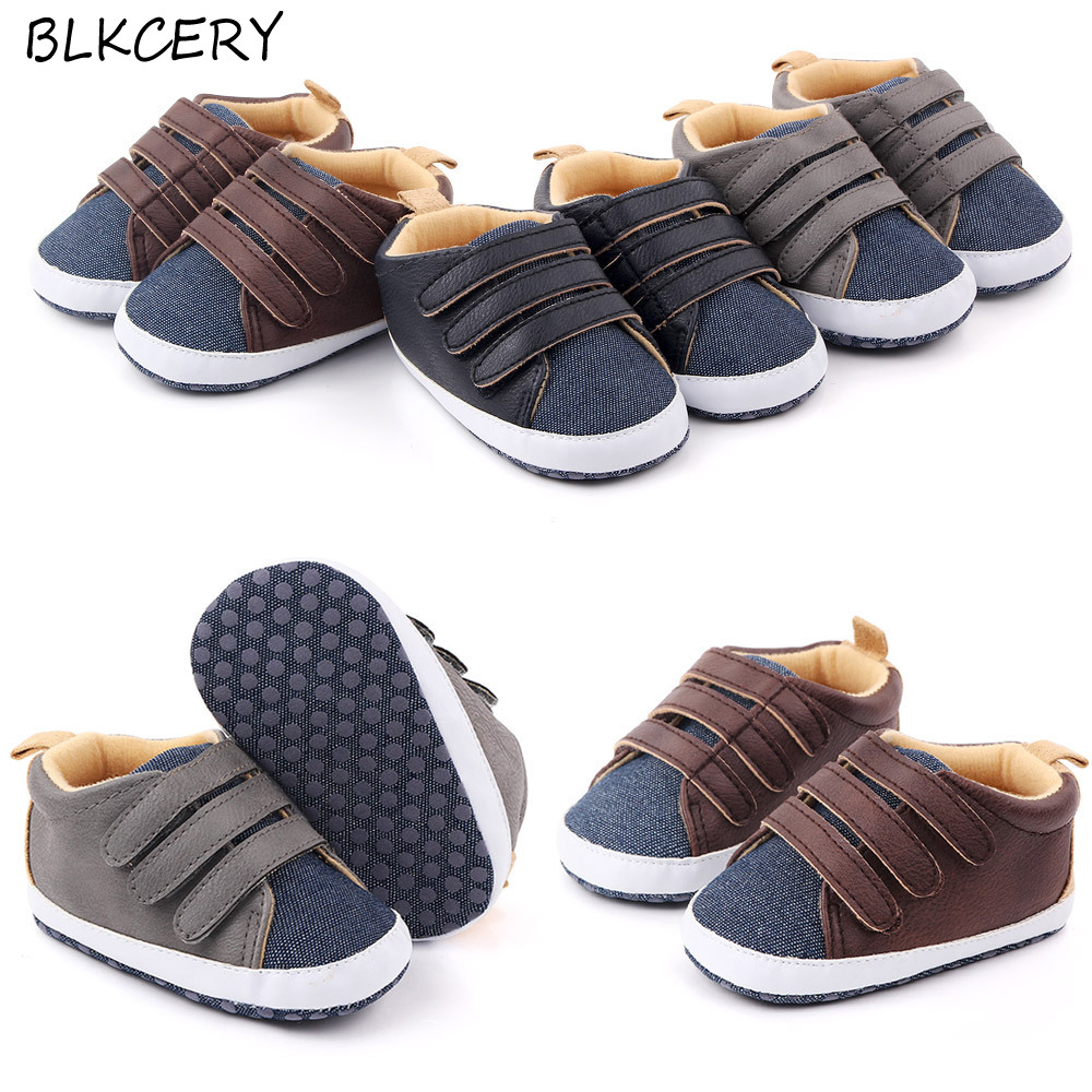 Brand Shoes Newborn Baby Boys Shoes Infant Boy Loafers For 1 Year Old Soft Sole Crib Shoes Toddler Slippers First Walkers 0-18M