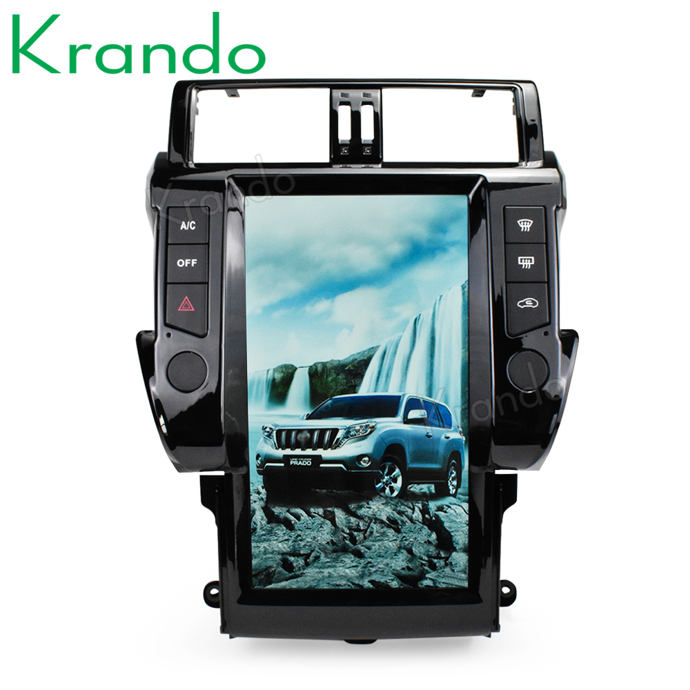 "Discount Krando Android 8.1 13.6"" Vertical screen car radio player gps for Toyota Prado 150 2014-2017 gps navigation multimedia system 0"
