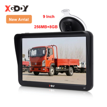 XGODY 9'' Car Truck GPS Navigation 256MB+8GB Touch Screen Sat Nav Bluetooth Optional Free Map Russia Navitel Europe Navigator 5 inch tft lcd display car navigation device gps navigator sat nav 8gb 560 high sensitive gps receiver america map