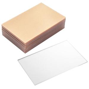 20pcs Plexiglass Sheets Thick Glass Replacement Acrylic Sheet Plastic Panels for Craft Project Picture Frame