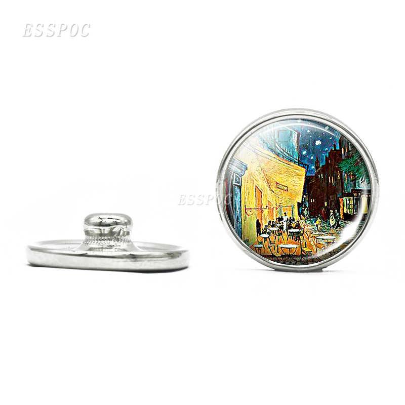 18mm cristal Domo Snap Button Van Gogh Klimt Monet Árbol de la vida noche estrellada pintura al óleo DIY joyería para amigos regalos especiales