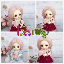купить 1/8 BJD Doll wig mohair material for 5 to 6 inch head circumference doll head онлайн