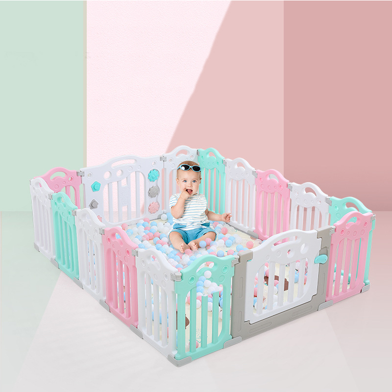 2020 Super Luxury Baby Playpen With Free Mat Kid Playpen For Children Indoor Baby Playground Kids Ball Pit Playpen Kid Ball