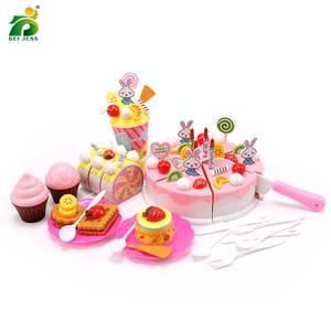 Image 2 - 147Pcsเด็กของเล่นสาวเค้กวันเกิดMiniatureอาหารชุดPretend Playของเล่นเพื่อการศึกษาพลาสติกสำหรับของขวัญเด็ก