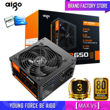 Aigo fonte Max 850W Power Supply 80plus PSU PFC Silent Fan ATX 24pin 12V PC Computer SATA Gaming PC Power Supply For Intel AMD
