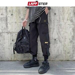 LAPPSTER Мужские Streetwear бегуны Брюки 2019 Mens Hip Hop Black Тренировочные штаны мужчины корейской Fashions Harajuku Карманы Sweatpants 5XL