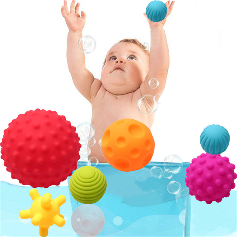 Baby Shower Bath Toys Soft Ball Rubber Toys Educational Tub Toys In Bathroom Swimming Games Water Spraying Tool