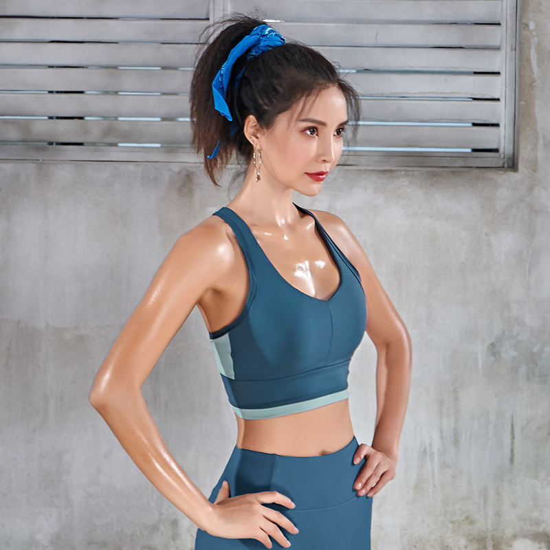 Women Workout Activewear Gym Sports Bra Push Up Fitness Top Yoga Running Jogger