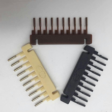 40pcs 6D Hair Extension Clips 3 Colors New Professional Hair Extensions tools Black /Brown/Blonde For 6D Hair Extension Machine