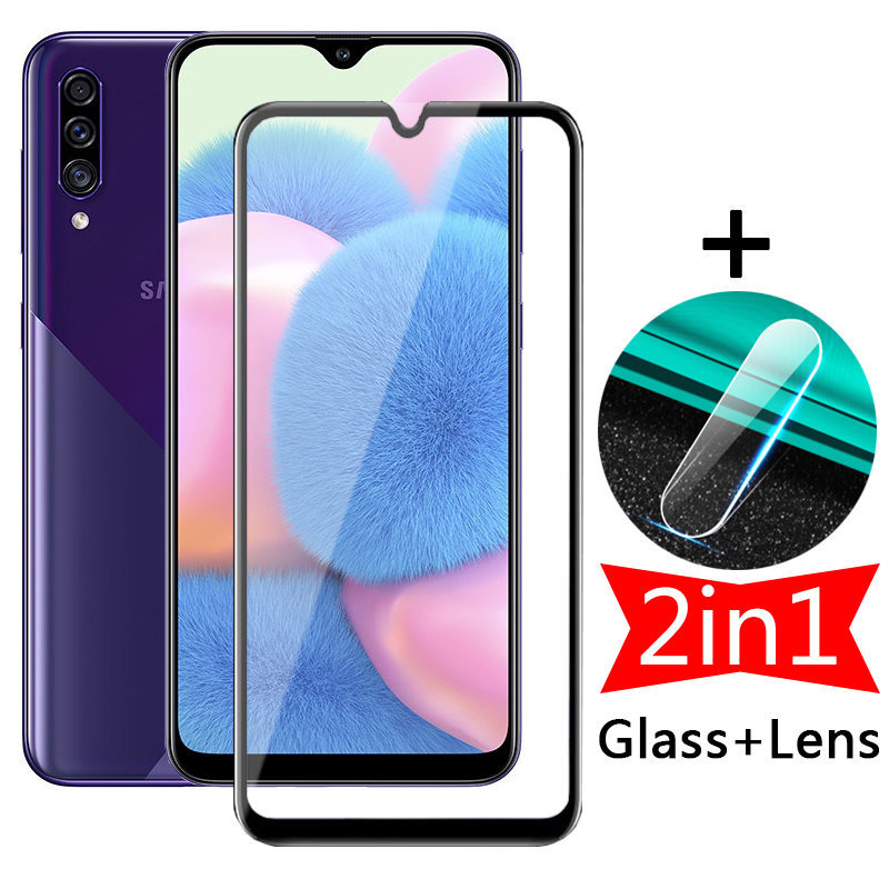 2in1 Full Screen Protective Glass for Samsung Galaxy A30s A30 M30 M30s Tempered Film Camera Protector Sumsung A 30s a307f M 30 s
