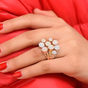 Image 3 - Godki luxo bagute cortar anéis em negrito com pedras de zircônia 2020 feminino festa de noivado jóias alta qualidade