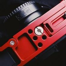 Alum Quick Release L Plate Bracket w Hand Grip Red For Canon EOS R ARCA SWISS SUNWAYFOTO BENRO