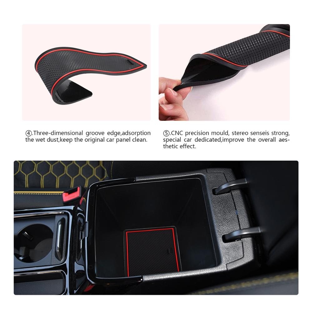 Image 4 - RUIYA Door Groove Mat For Kia Ceed 2018 2019/XCeed 2020 Car Anti Slip Gate Slot Pads Auto Interior Front And Rear Door Dust PadScreen Protectors   - AliExpress