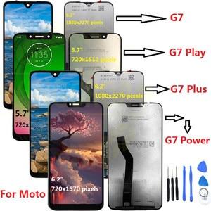 Image 1 - Display LCD originale G7 per Motorola Moto G7 Power Display XT1955 LCD G7 Plus Touch Screen Digitizer G7 Play LCD di ricambio XT1952 LCD