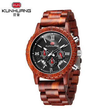 Wood Mens Watches Top Brand Luxury Sports Luminous Clock Hand Chronograph Quartz Watch Men Relogio Masculino 2020 New Fashion fashion quartz watch men watches top brand luxury male clock stainless steel watches mens wrist watch hodinky relogio masculino