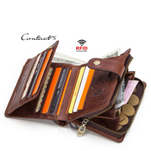 Fashion Genuine Leather Short Wallets Women Wallet New Fashion Coin Purse Zipper Hasp Design Brand With Card Holder Pocket new men wallets famous brand genuine leather wallet hasp design wallets with coin pocket purse card holder for men carteira