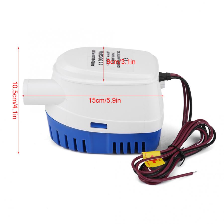 12v 1100gph Automatic Submersible Boat Bilge Water Pump  New Design US STOCK