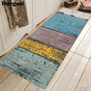Image 2 - Thregost Striped Printed Long Floor Mats 3D Carpet Prayer Rugs Muslim Indoor Doormat Memory Foam Soft Kitchen Carpets