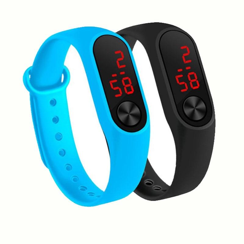 Часы женские электронные со светодиодным дисплеем, простые цифровые модные повседневные спортивные для детей и мужчин