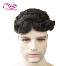 Хороший прочный тонкий кожаный мужской парик 8x10 дюймов, парик для мужчин, замена волос для мужчин t, система волос, Tsingtaowigs