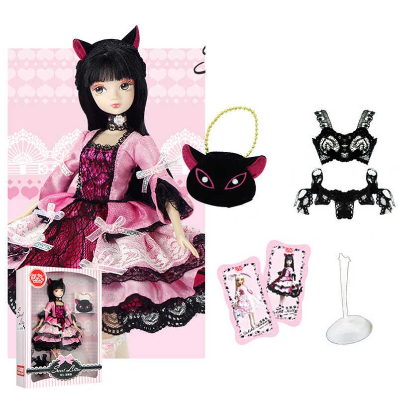 Brinquedos 3d eyes bjd para meninas, boneca de brinquedo com acessórios, roupas, sapatos, chapéu, figura, articulações móveis, bonecas corporais, brinquedo para meninas presente com caixa