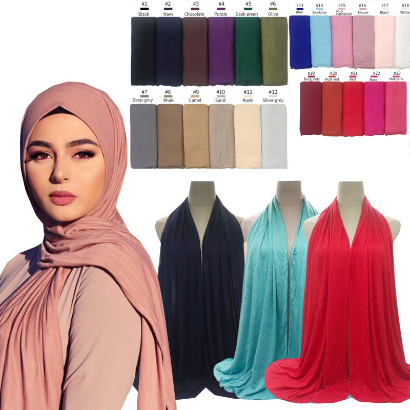 Plain Smooth Stretchy QUALITY cotton//polyester blend Scarf//Hijab//Shawl