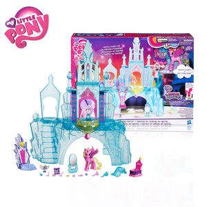 Image 2 - Originele Merk My Little Pony Speelgoed Friendship Is Magic Kasteel Kristal Pak Voor Kleine Baby Kerst Verjaardagscadeau Meisje Bonecas