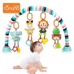 Детские игрушки TUMAMA, Детские колокольчики, погремушки с прорезывателями, Мягкие Плюшевые Игрушки для раннего развития, коляска, игрушки для...