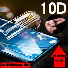 10D przednia miękka TPU Screen Protector pełna pokrywa dla Sony Xperia 1 XZ XZ1 XZ2 XZ3 XZ4 Compact Premium wyczyść hydrożel naklejka Film tanie tanio MANLIFU Jasne CN (pochodzenie) Clear Soft TPU Front Hydrogel Film For Sony Xperia XZ Soft TPU Front Back Hydrogel Film For Sony Xperia XZ 1