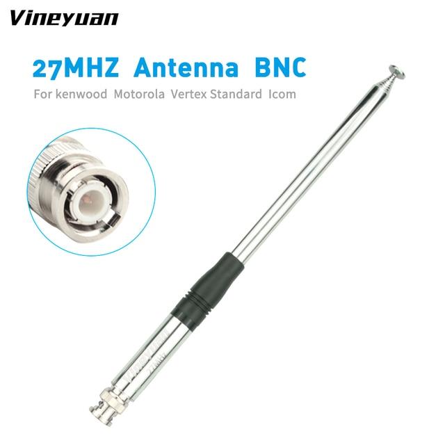 130CM/51.18inch 27MHz CB Radio Telescopic Antenna BNC Male Connector Radio Antenna for Kenwood ICOM Motorola IC-V8 IC-V80 IC-V82 1