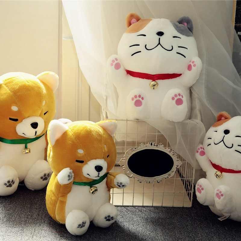 Dễ Thương Shiba Inu Akita Mèo May Mắn Búp Bê Sang Trọng Đồ Chơi Gối Trẻ Em Quà Tặng Sinh Nhật Girl's Trang Trí