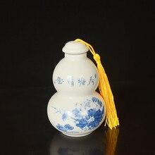 Small Ceramic Gourd Bottle Sealed Spice Jar Tea sealed bottle Seasoning tools pardeep kumar bottle gourd mosaic virus
