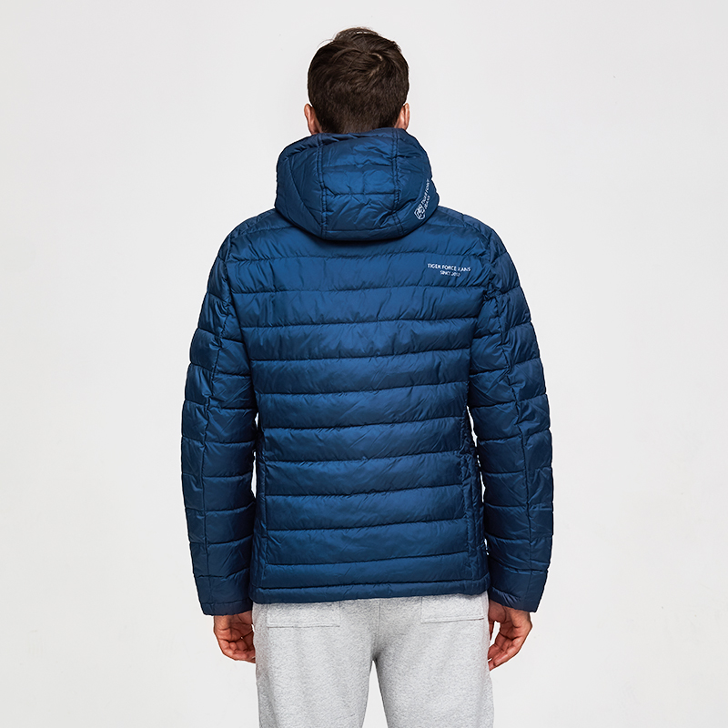 TIGER FORCE โพลีเอสเตอร์ 100% ฤดูใบไม้ผลิเสื้อผู้ชายผู้ชายหนาเสื้อแจ็คเก็ตชายเสื้อโค้ท Hooded Outerwear ผู้ชาย Parka-ใน เสื้อกันลม จาก เสื้อผ้าผู้ชาย บน   3