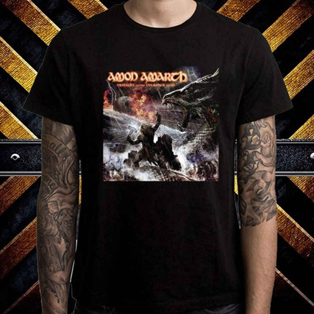 Amon Amarth Twilight Of The Thunder พระเจ้า Mens เสื้อยืดสีดำขนาด S M L XL 2XL 5XL