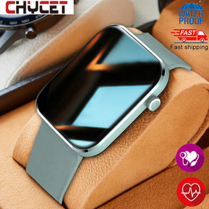 Image 1 - Chycetスマート腕時計男性女性心拍数血圧フィットネストラッカー時計音楽コントロールスポーツスマートウォッチandroid ios 2021