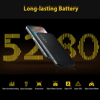 Blackview BL6000 Pro IP68 Waterproof 8GB+256GB 5G Smartphone 48MP Triple Camera 6.36'' Android 10.0 Global Bands 5G Mobile Phone 5
