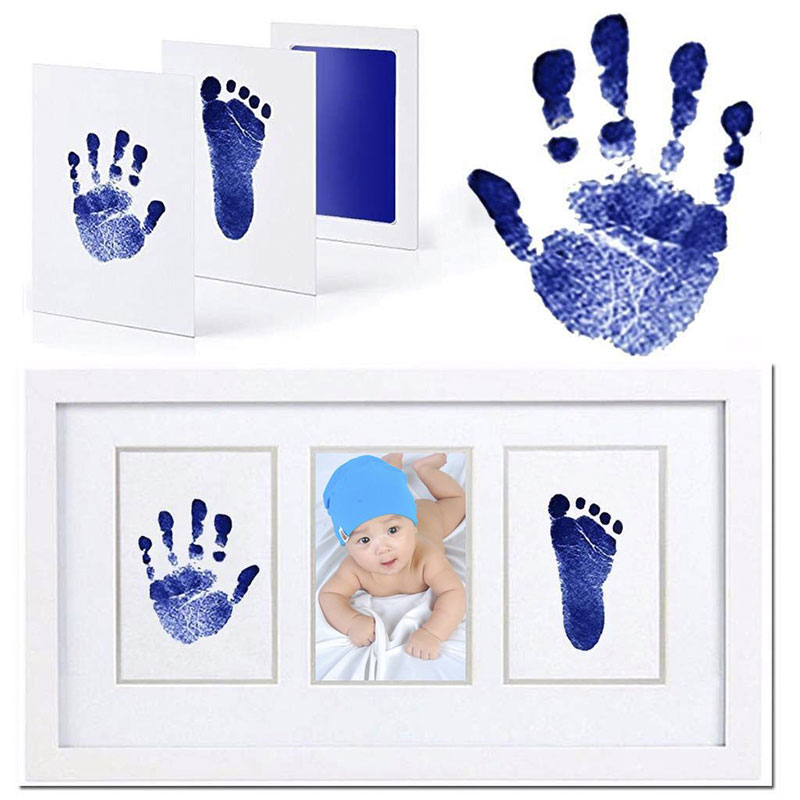 Baby Handprint And Footprint Ink Pads Reusable Non-Toxic And Safe Print Stamp Family Memory Maker Or Shower Gift For Baby Pets