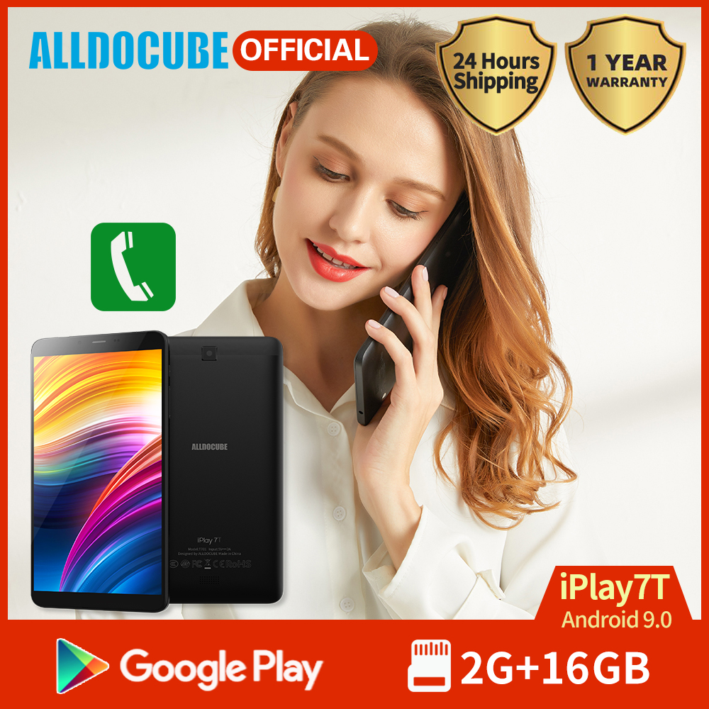 Alldocube Android 9.0 4G Phone Call Tablet IPlay 7T 7 Inch IPS Screen 2GB RAM 16GB ROM 2800mAh Dual Camera GPS Wifi