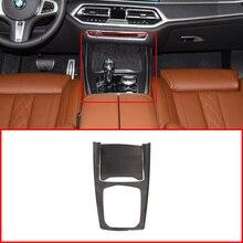 Prawdziwe włókno węglowe do BMW X5 G05 X7 G07 2019 2020 Gears rama uchwyt na kubek Panel przekładni listwa wykończeniowa akcesoria do wnętrza samochodu