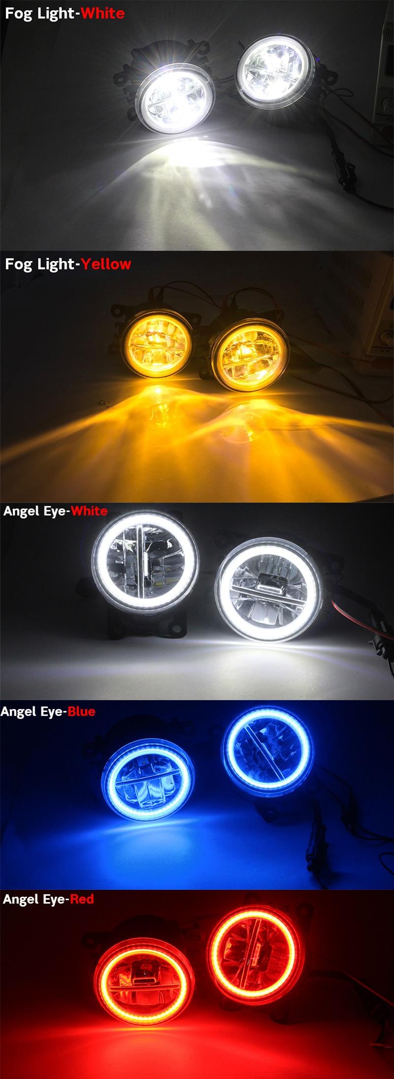 Blue Halo Fog lamps Angel Eye Fog lights Kit For 2004-2008 Mitsubishi Galant