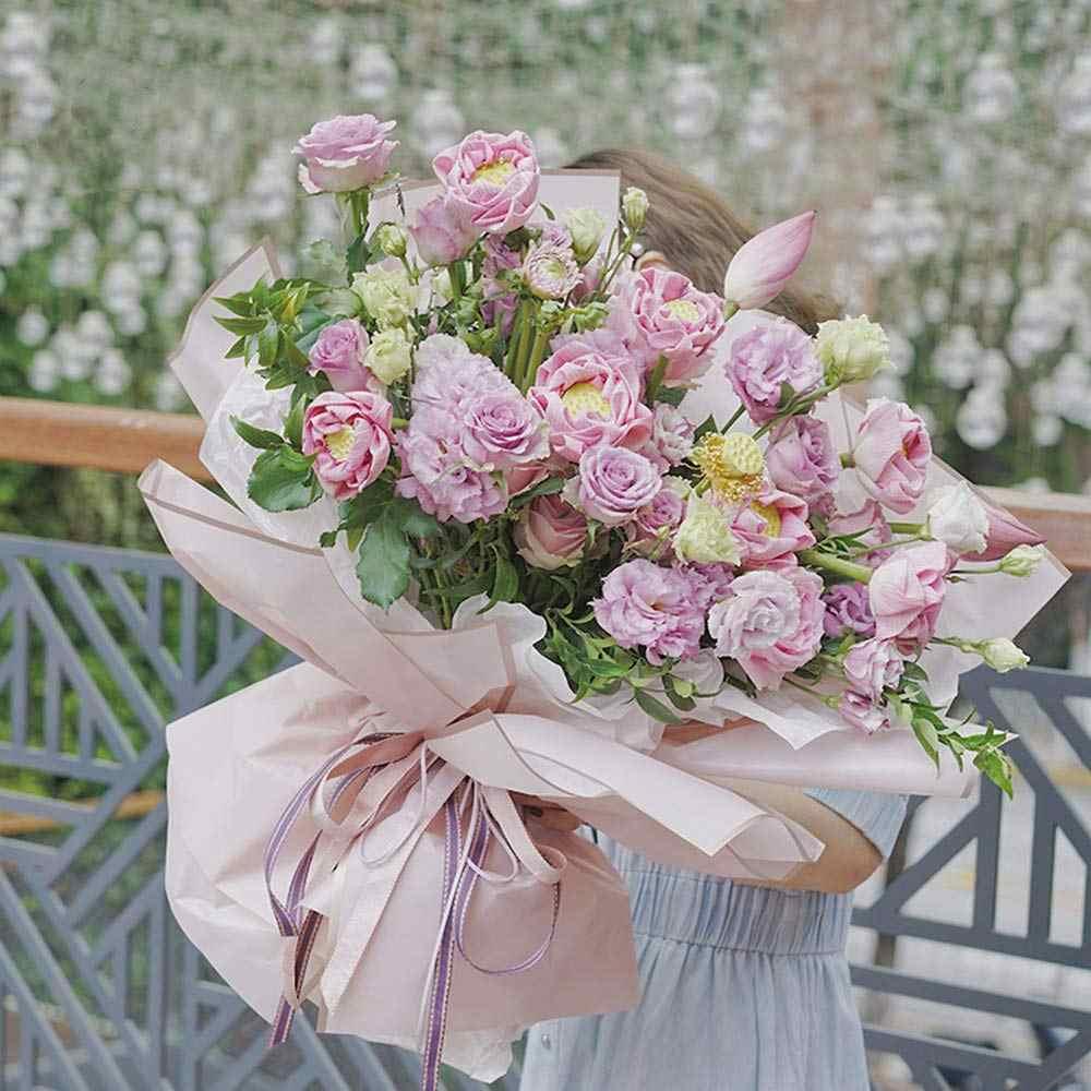 Bbj Wraps Waterdichte Bloemen Inpakpapier Vellen Verse Bloemen Boeket Geschenkverpakkingen Koreaanse Bloemist Levert, 20 Vellen