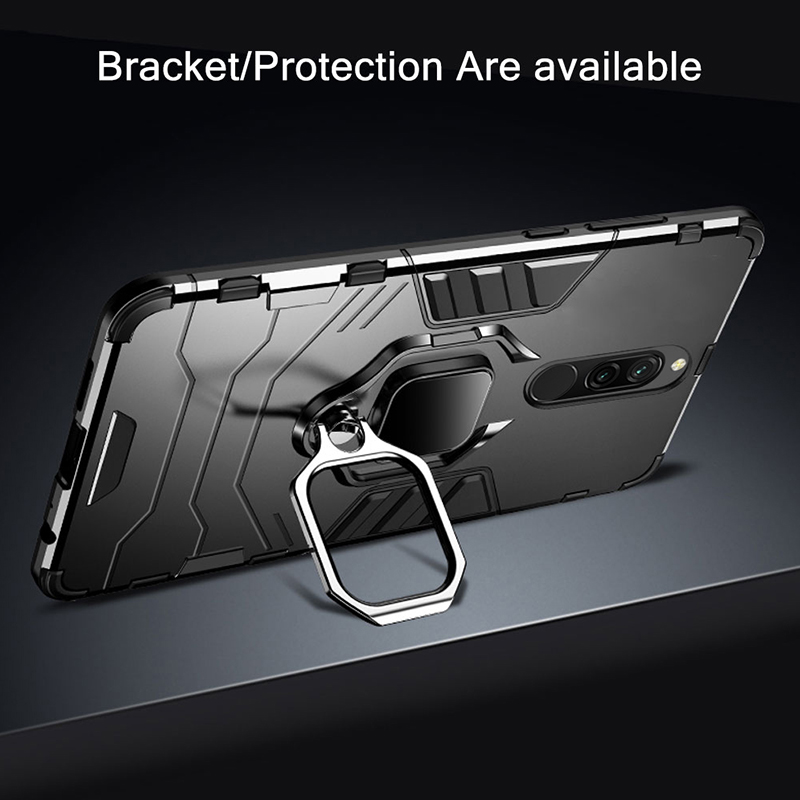 Armor Case for Redmi 8 8A Case Magnetic Car Phone Holder TPU PC Bumper Cover on Armor Case for Redmi 8 8A Case Magnetic Car Phone Holder TPU+PC Bumper Cover on for Xiaomi Redmi 8 8A 8 A Global Version Case