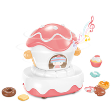 77Children play games with video  Cake parade float rotates 360� Music playback Macaron healing colors Guide the cardan