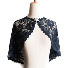 2019 dantel Bolero kadın siyah dantel sarar şal broş ile bahar sonbahar bayan eşarp