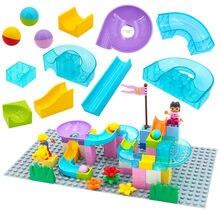 Grote Deeltjes Diy Bouwstenen Maze Ras Marmeren Run Duplos Blokken Accessoires Diy Bricks Educatief Speelgoed Voor Kinderen Gift
