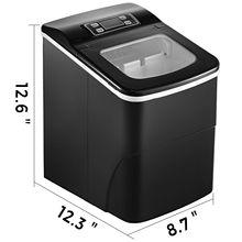 12 кг/24 ч Прочный портативный Ледогенератор пищевой контейнер 2,2 л бак для воды кухня пуля быстрого приготовления льда
