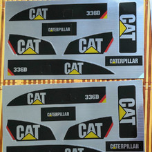 Sticker set for Huina 580 1580 TR 211m 23 channel Rc Excavator Amewi 1:14 decals