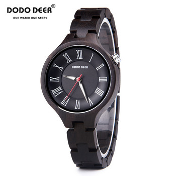 Montre Femme Clock Luminous Ebony Wooden Quartz Watch Women Timepieces Wood Band Wristwatches for Gifts Dropshipping OEM A16