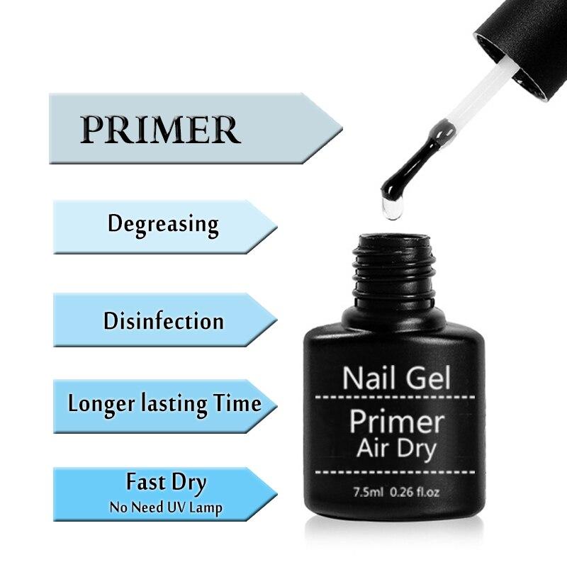 Lghzlink Nail Primer/gel Fast Air Dry Nail Primer Nail Art Acrylic No Need Of UV LED Top Coat Dehydrator Nails Bonder Liquid