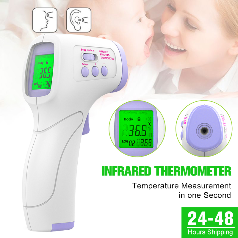 Portable Automatic Multifunctional Intelligent Temperature Sensor Ear Forehead 2-in-1 Body Detection Measurement Gun For Family